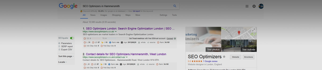 Local SEO services in Hammersmith